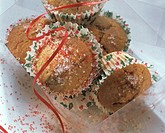 Carnival muffins sprinkled with red & white sugar topping(1)