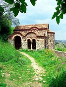 Little Byzantine church. Mystras. Laconia, Peloponnese. Greece