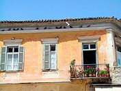 Traditional house at Naflion town. Argolis, Peloponnese. Greece