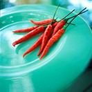 Red Hot Peppers on Plate