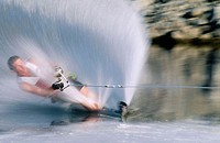 Waterskiing, Columbia River, Washington, USA