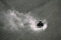CREDIT: TH FOTO-WERBUNG/SCIENCE PHOTO LIBRARY Tractor  ploughing.    Soil   is   aerated   after harvesting,  to maintain its fertility after being co...