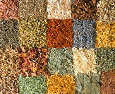 CREDIT: TH FOTO-WERBUNG/SCIENCE PHOTO LIBRARY Medicinal herbs. Assortment of dried herbs used in complementary therapies (alternative medicine) for th...