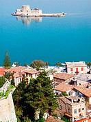 Fort Bourdzi. Nafplion. Argolis, Peloponnese. Greece