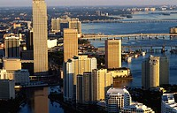 Downtown condos and offices. Miami. USA