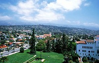 View from 'El Mirador' tower of the County Courthouse. Santa Barbara. California. USA