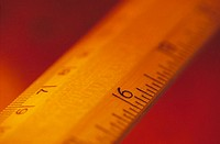 Ruler showing centimeters and inches