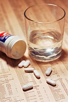 Headache tablets on stock market report