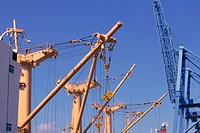 Ship's cranes, container crane. British Columbia, Canada