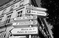 Street signs. Paris. France