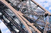 Eiffel Tower (detail). Paris. France