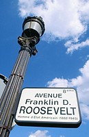 Franklin D. Roosevelt Avenue. Paris. France