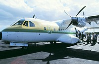 Binter Aircraft at airport. La Palma. Canary Islands. Spain
