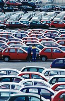 Automobiles at Port of Pasajes. Guipuzcoa. Spain