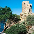 Ses Animes tower. Banyalbufar. Majorca. Balearic Islands. Spain