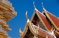 Detail of Wat Doi Suthep. Chiang Mai. Thailand