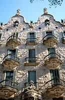 Calvet House (Gaudí, 1898-1904). Barcelona. Spain