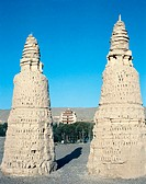 Double Pagoda at Dunhuang. Gansu Province. China