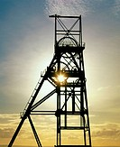Pithead in a closed coal mine near Kirkcaldy. Fife. Scotland