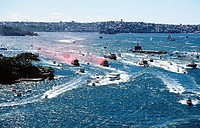 Boats and ferries on harbour. Sydney. Australia