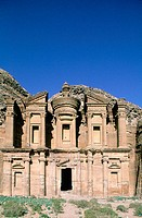 The Deir (also called ´the monastery´) is carved in the rock by a remote place on the mountain at II th century BC by the Nabatean people was a place ...