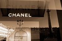 Chanel boutique at Place Vendôme. Paris. France