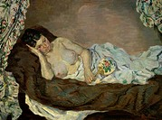 Reclining Nude ca. 1877 Armand Guillaumin (1841-1927/French). Musee d´ Orsay, Paris