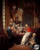 The Lunch 1739 Francois Boucher (1703-1770/French). Musee du Louvre, Paris