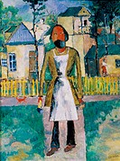 The Carpenter 1908-1910, Kasimir Malevich (1878-1935/Russian). Oil on Canvas Russian State Museum, St. Petersburg