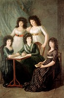 6th Contessa of Motijo and her Four Daughters Franciso Goya y Lucientes (1746-1828 /Spanish). Collection of The Duke of Berwick and Alba, Madrid