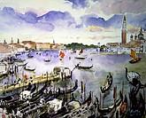 Gondolas, Venice c. 1930 Martha Walter (1875-1976/American). David David Gallery, Philadelphia