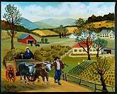 A Rural Scene by Konstantin Rodko