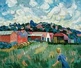 Blair Drummond Barns Josephine Trotter (b.1940/British). Oil on canvas