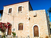 Traditional house at Areopolis. Mani Peninsula. Laconia, Peloponnese. Greece