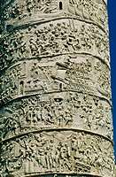Detail of Trajan´s column. Rome. Italy