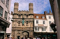 Gate to Canterbury Cathedral. Kent. UK