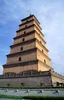 Dayan Pagoda (also known as Big Wild Goose) in Xian. China