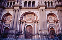 Front wall of the Malaga's Cathedral