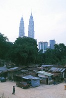 Neighborhood in Kuala Lumpur near the Petronas Towers.