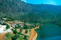 Sopeira and Escales reservoir. Huesca province. Spain