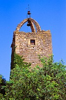 Old fortress tower. Peratallada. Girona province. Spain