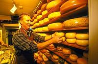Wegewijs Cheese Shop in Amsterdam. Netherlands