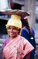 Laborer with hat in Madras. India