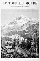 Mount Everest as seen in 'Le tour du monde', a XIX th century travel magazine