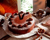 Chestnut and chocolate gateau