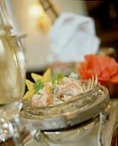 Shrimp cocktail with avocado and coriander
