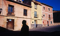Old houses in Cuenca's old town. Castilla la Mancha .Spain