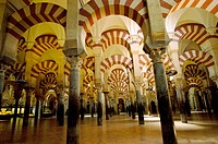 Interior of Cordoba´s mosque. Cordoba. Spain