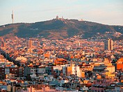 Barcelona at sunrise. Spain