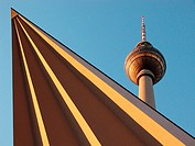 Television tower from below. Berlin. Germany